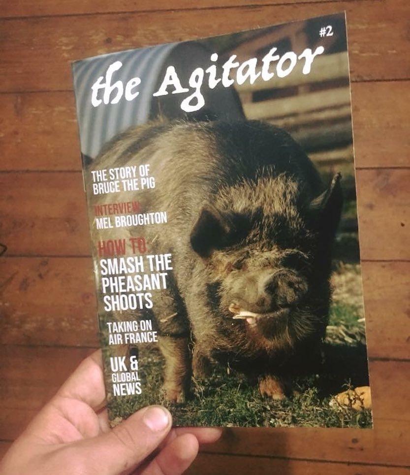 Photo of the magazine called The Agitator